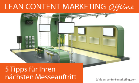 Lean Content Marketing Messe