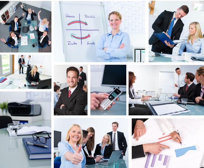 collage von besprechungen