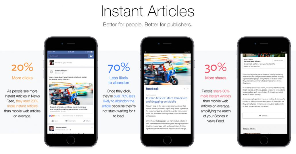 Content Marketing mit Instant Articles - Vorteile für Publisher