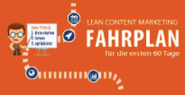 Lean Content Marketing. Infografik für die ersten 60 Tage.