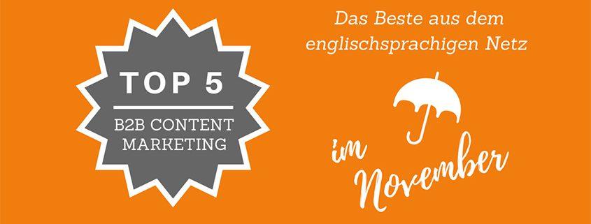 B2B Content Marketing - Best of November 2016