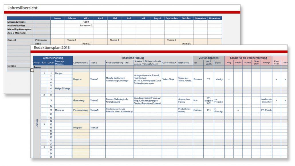 Themenplan Vorlage
